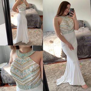 """""""Egyptian"""" White Dress"""